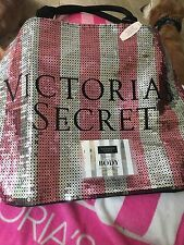 Victorias Secret Limited Edition Bling Pink Black Friday Large Tote Coconut Body