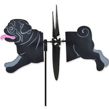 Pug Garden Wind Spinners Black