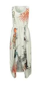 Bolongaro Trevor parachute ivory summer dress UK S, M, L RRP £125. 75% Sale