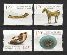 PR China 2018-11 kulturellen Reliquien entlang der Seidenstraße Serie I Set 4 stamps mint