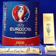 Panini EURO France 2016: Empty Album and 100+ stickers. NEW Unique Checklist