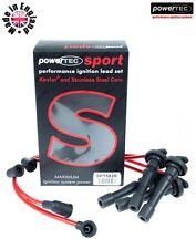Powertec Sport Rojo 8mm IGNICIÓN HT LLEVA CABLES Honda CR-V 2.0i 16v RD1 RD3