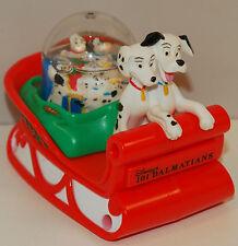 "4"" 101 Dalmatians Snow Water Globe Sleigh Sled 1996 McDonalds Pongo Perdi Figure"