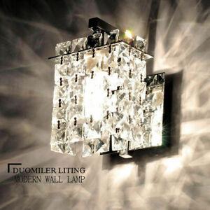 Modern Crystal LED Wall Lights Aisle/Bedside light Single Head Wall lamp