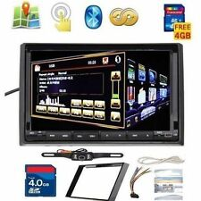 "Double 2Din 7"" GPS Navi Radio Car Stereo DVD Player TV BT HD+ Reverse Camera"