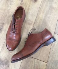 JCrew $298 Ludlow Semi-Brogue Oxfords 9 English Tan Leather Shoes C8896