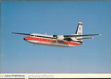 Aviation Postcard - Fokker F27 500F Series Aeroplane, Jersey European  MB2151