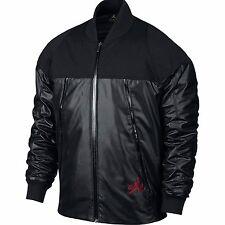 NIKE Air Jordan MENS L AJ XI Pinnacle Full Zip Jacket Black Gym Red 777495-010