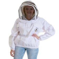 Bee Veil 3 couches de s/écurit/é unisexe blanc tissu maille apiculture veste veste apiculture escrime voile v/êtements de protection apiculture v/êtements apiculture v/êtements de protection apiculture-XL