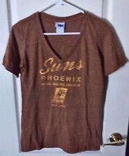 NBA Brand Phoenix Suns Orange Marbled S/S V-Neck Fitted Tee / SUNS Est 1968 - L