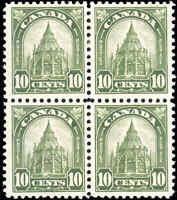 1930 Mint H/NH Canada F-VF Block Scott #173 10c King George V Arch/Leaf Stamps
