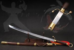 Martial Arts KUNG-FU training Stainless Steel blade Trigrams Tai-chi Sword# 4648