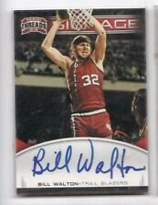 2012-13 Bill Walton Auto Panini Threads Blazers Signage