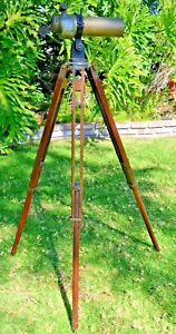 Vintage WW1 Antique CT&S  Spotting Scope Telescope & Tripod