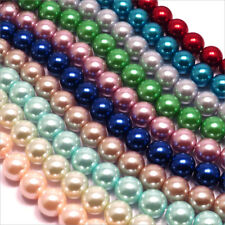 Lot of 400 glass beads Pearly 10mm 10 Ranks Mix of colors Quality AAA