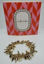 Stella & Dot Renegade Cluster Spikes Bracelet Gold Tone in original box.