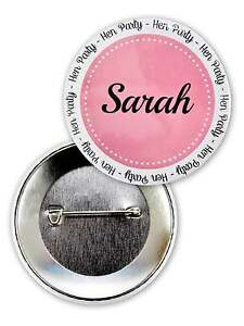 PERSONALISED HEN NIGHT PARTY BADGES HEN PARTY PERSONALSIED BADGES CUSTOM BADGE