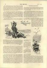1893 Last Week Paris 40lb Goose Shot Villedebois Lord And Lady Vivian