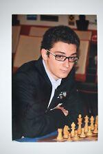 Gm fabiano caruana signed 20x30cm foto autógrafo Autograph ip2 Grandmaster Chess