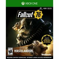 NEW SEALED FALLOUT 76 WASTELANDERS XBOX ONE VIDEO GAME 2020 4K HDR SLIPCOVER