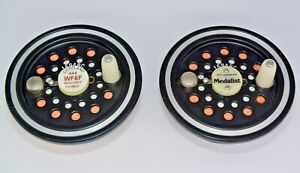 Two Vintage Pflueger 1594RC Medalist Spare Fly Reel Spools w/Line