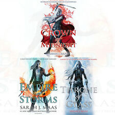 Throne of Glass Collection By Sarah J Maas 3 Books Set Crown of Midnight ,New