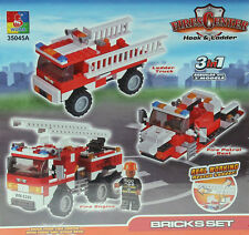 SUPER BLOX - 35045 - 3 in 1 Hook & Ladder Fire Center - 171 PC ** GRANDE REGALO **