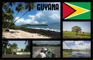 Guyana,Sth Amerika - Souvenir Neuheit Kühlschrank Magnet - Sights / Städte -