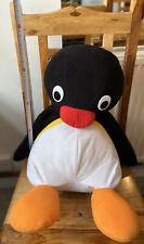 50cm Large Pingu The Penguin Plush Soft Toy 2007 Holding Teddy Pygos Group HIT
