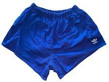 adidas vintage Sprinter Shorts Gr. 6 L Baumwolle blue Sporthose 80er 80s FS5