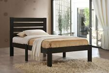 Platform Bed Frame Twin Size Mattress Slat Headboard Bedroom Sturdy Modern Wood