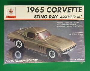 Vintage Renwal 1965 Corvette Stingray Model Kit SEALED NOS 1:48