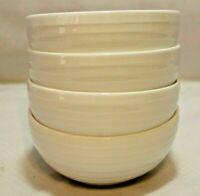 Mikasa Ciara White Bone China Small Fruit Bowls Set of Four New