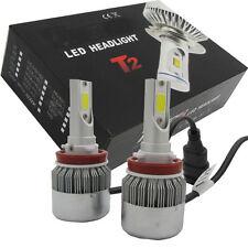 2Pcs 55W H8/H9/H11 6000K 5000LM LED Headlight 12V Car Conversion Bulbs Kit White