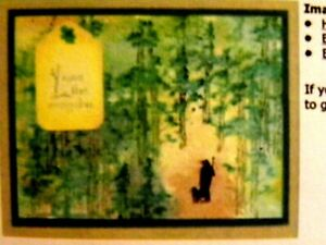 Mt Pine RETIRED (U get photo #2) L@@K@ examples ART IMPRESSIONS RUBBER STAMPS
