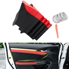 4x PU Leather Car Door Panel Surface Shell COVER Trim for Honda 10th Civic 16-18
