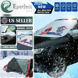 Car Truck Windshield Cover Ice Frost Magnetic Tarp Flap Snow Cover Sun Protector
