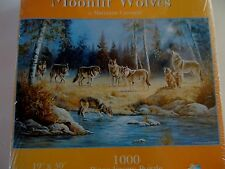Moonlit Wolves Jigsaw Puzzle Howling New Factory Sealed 19 x 30 1000 Pc SunsOut