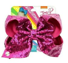 "NEW! Jojo Siwa Bow Large 8"" Sequin Bow 💗 PINK ✨"
