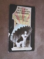 Wildt & Kray Edwardian Greeting Postcard - 1st Birthday with puppy / dog