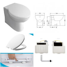 Back To Wall Toilet Pan BTW With Soft Close Seat And Concealed Cistern Modern
