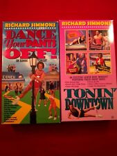 Richard Simmons Dance Your Pants Off and Tonin Downtown 2 VHS Tapes Fitness