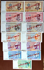 Bosnia 1998 SPECIMEN Set 13 Notes 50p to 100 Marka Matching Low Ser# 00071 UNC