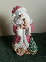"Gorgeous Vintage Old World Santa Figurine Father Christmas 9"" Holiday Decor"