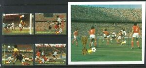 St Lucia 1982, World Cup Football Championship - Spain sg611/4 & MS615 MNH