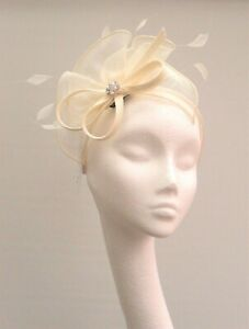Ivory Sinamay Fascinator
