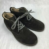 Finn Comfort Brown Suede Four Eyelet Lace Up Walking Womens Chukka Boots Sz 5