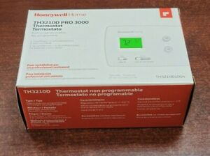 NEW Honeywell Pro 3000 TH3210D1004 Thermostat Non-Programmable Heat Pump Only