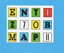 PANINI CALCIATORI 1972-73- Figurina LETTERE ADESIVE FUORI RACCOLTA Tipo 10 -NEW