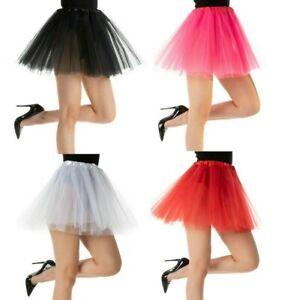 Ladies TUTU Skirt 3 Layers Fancy Dress Petticoat Costume Ballet Skirt Hen Party